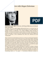 A Rare Interview With Jürgen Habermas