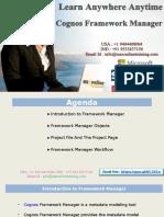 Cognos Framework Manager online training