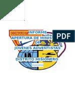 Informe de Apertura del ministerio joven