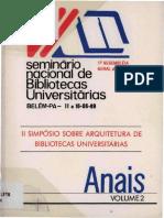 Seminario Nacional de Bibliotecas Universitárias