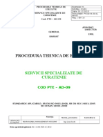 9 PTE-AD-09- Procedura Curatenie Si Igienizare Spital -2014