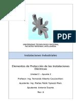 Instalaciones Industriales - U2-A2 - Elementos de Protección de Las Instalaciones Eléctricas