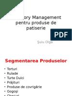 Category Management Pentru Produse de Patiserie