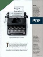 Writing and Mathematics