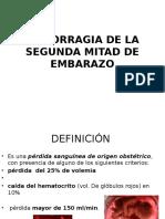 DPPNI y Placenta Previa