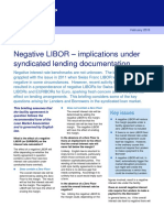 Negative LIBOR Implications for Syndicated Lending Documentation