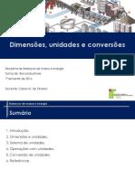 Dimensões e Unidades