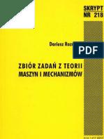 Zbiór zadań z Teorii Maszyn i Mechanizmów - Dariusz Rozumek