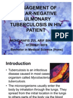 Management of Smear-Negative Pulmonary Tuberculosis in HIV Patient