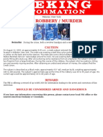 Credit union robbery wanted poster