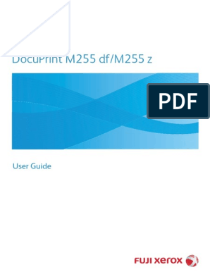 Fujixerox M225Z User Guide | Image Scanner | Fax