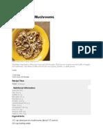 Bucatini With Mushrooms