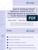 Framework for Developing Scientific Applications