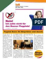 Bürgerblattl BürgerUnion Nr. 1/2016