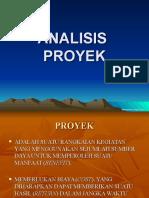 Ekonomi Teknik 6 Analisis Proyek