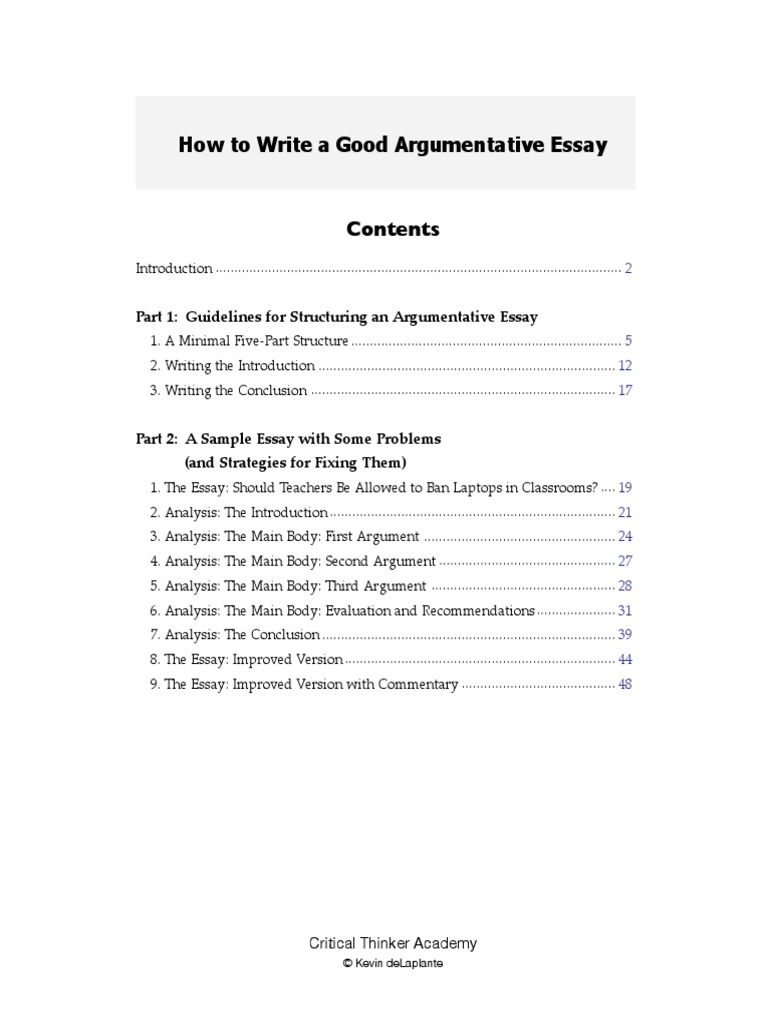 How To Write A Good Argumentative Essay  Essays  Classroom V Examples Of Thesis Statements For Narrative Essays also Thesis Statement For A Persuasive Essay  General Essay Topics In English