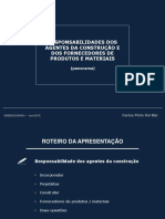 Responsabilidades Dos Agentes Da Construção e Dos Fornecedores de Produtos e Materiais