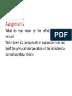 Assignment on Infinitesimal Strains
