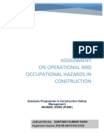 Operational and Occupational Hazards in Construction