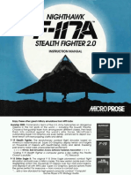 F117A STEALTH FIEHTER2.O INSTRUCTION MANUAManual