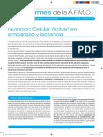 Nutrición Celular Activa® en embarazo y lactancia