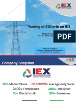 IEX - Trading of ESCerts on Power Exchange and Price Discovery Mechanism
