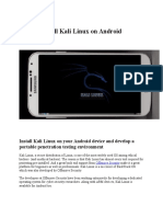 how to install kali linux on android smartphone