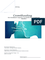 Crowdfunding thesis