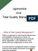 Ergonomics and TQM
