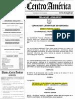 Decreto. 18-2016 Reformas Al Dto. 40-94 Ley Orgánica Del Ministerio Público