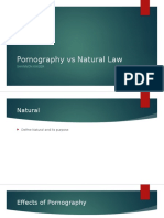 Pornography vs Natural Law