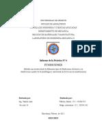 Informe de Fundición