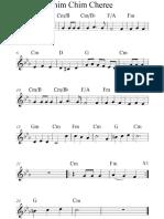 Chim Chiminey Mary Poppins Disney Sherman Bros. Sheet music piano melody chords guitar ukelele accordion