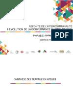REFONTE DE L'INTERCOMMUNALITÉ & ÉVOLUTION DE LA GOUVERNANCE  DU PAYS BASQUE
