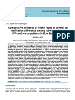 Comparative Influence of Health Locus of Control on Medication Adherence Among TB and HIV Outpatients_Obadiora, A. H.