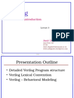 3 LECTURE 4 - Introduction to Verilog -EC601-DSD-AD - Lecture 3