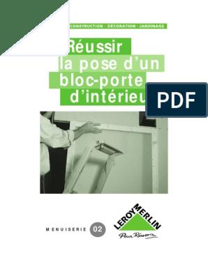 La Pose Dun Bloc Porte Dintérieurpdf Plâtre Matériaux