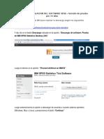 Manual de Instalacion Del Software Spss