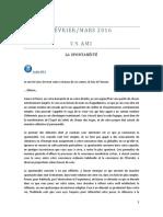 UN AMI - Février-Mars 2016