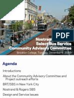 Bus Rapid Transit/Select Bus Service Proposal along Nostrand Avenue