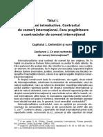 Dreptul Comertului International Contracte de Comert International