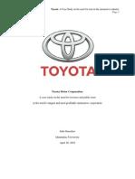 John Greenlaw - Toyota Motor Corporation Case Study