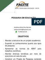 Aula 1- Projeto de Pesquisa PDF