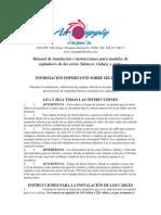 Manual de Instalacion Equipo Air Supply Serie Silencer