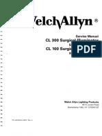 WelchAllyn CL-300 Surgical Illuminator - Service Manual