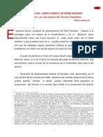 La Teoria Del Campo Juridico de Pierre Bourdieu