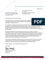 FireEye Support Letter National Commission on Security and Technology Challenges