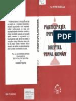 Participaţia Improprie În Dreptul Penal Român - P.dungan - 2001