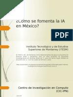 Como se fomenta la Inteligencia Artificial en México