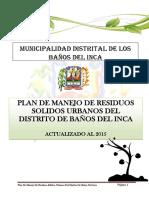 Plan de Manejo de Residuos Solidos 2015